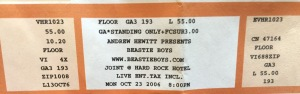 Beastie Boys Ticket